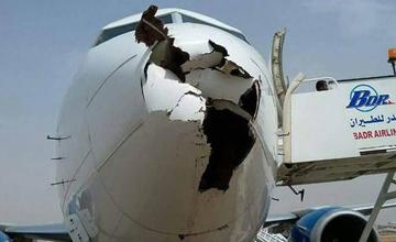 """飞机""""机鼻""""被鸟撞出一个大洞"""
