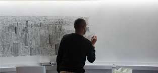 """超强记忆""""人肉相机""""绘制纽约市全景图"""