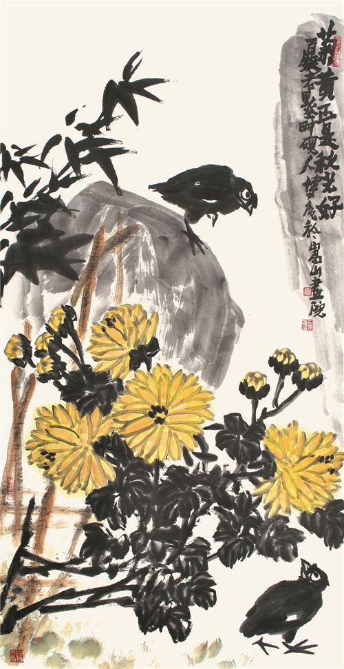 鸟鸣秋意秋气动,诗情更比秋情长.图片