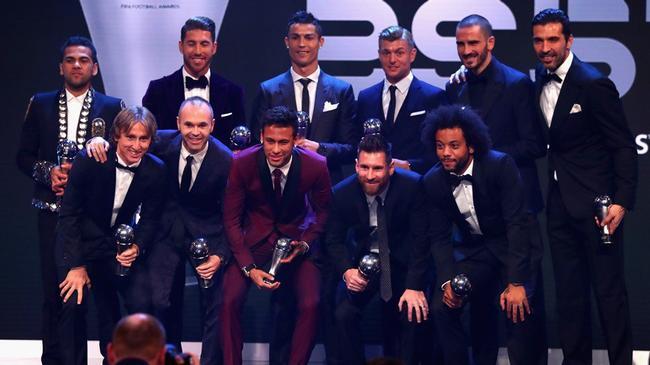 FIFA最佳阵容:皇马5人成最大赢家 巴萨尤文各3人