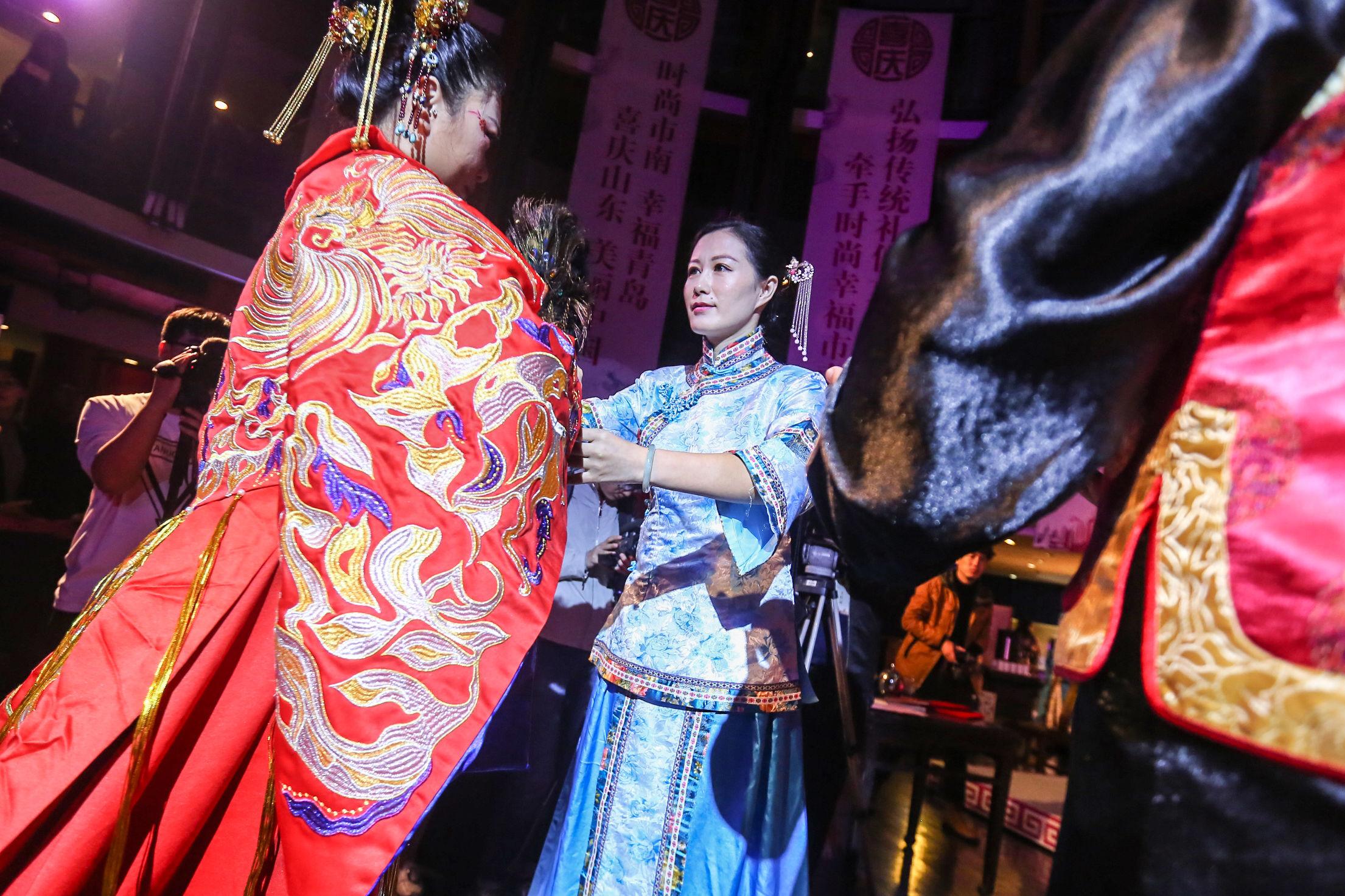 山东首届中式传统婚礼大典 汉风服饰点燃婚礼新风尚