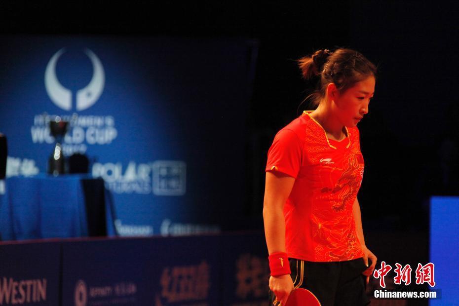 中国名将朱雨玲2017乒乓球女子世界杯夺冠