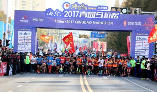 2017青岛马拉松落幕 青岛本土选手马艳丽夺半马冠军