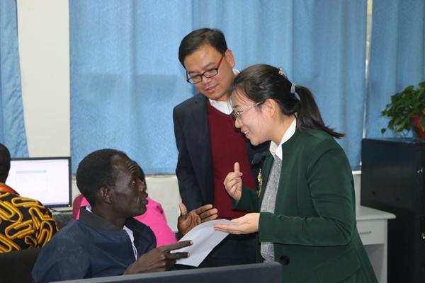 河南经贸职业学院南苏丹IT技术人员培训班结班