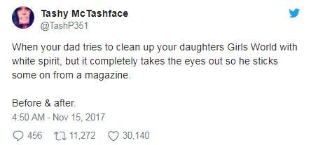 姥爷给外孙女修娃娃 成品让所有人都吓哭了