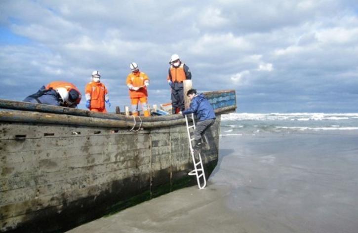 日本海岸现幽灵船
