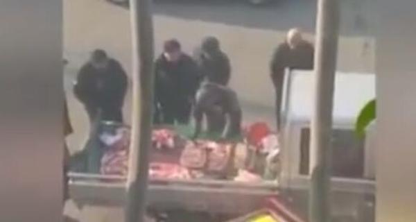 城管买肉不付钱? 官方:涉事3人停职接受调查