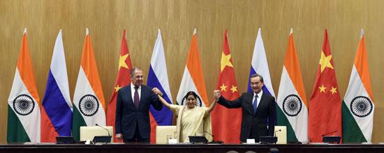 王毅谈中俄印外长会晤的十大共同点 (图)