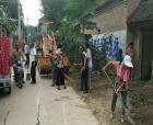 柘城县张桥镇集中开展环境卫生整治攻坚战
