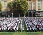 消防日:商丘市第一中学1800名师生圆满完成消防应急疏散演练