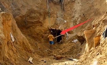 男子凹陷地面发现奇怪洞穴 偷偷进去后两眼发傻!