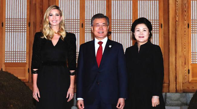 """""""第一千金""""伊万卡优雅亮相 获韩总统设宴款待"""