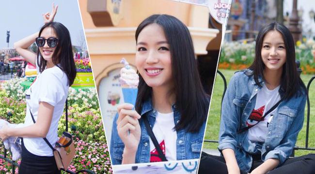 辣妈张梓琳庆34岁生日 带女儿逛迪士尼化身小公主