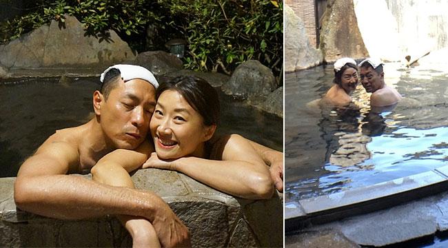 金像奖热门人选携妻日本泡温泉追海豚