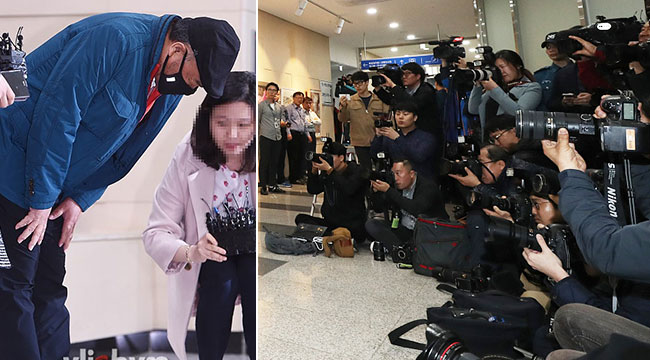 韩59岁男星涉嫌性侵进警署 当众鞠躬表歉意