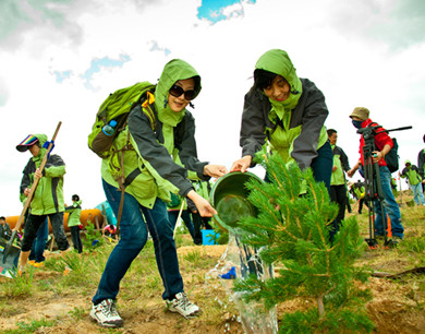 千人植树活动