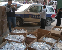 云浮警方突击检查 非法制售假药嫌疑人被刑拘