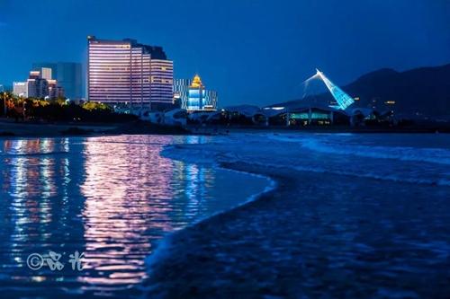 青岛崂山区亮化工程图片为平老虎团队拍摄.