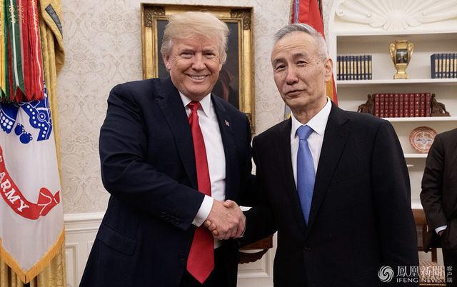 特朗普会见习近平主席特使、国务院副总理刘鹤