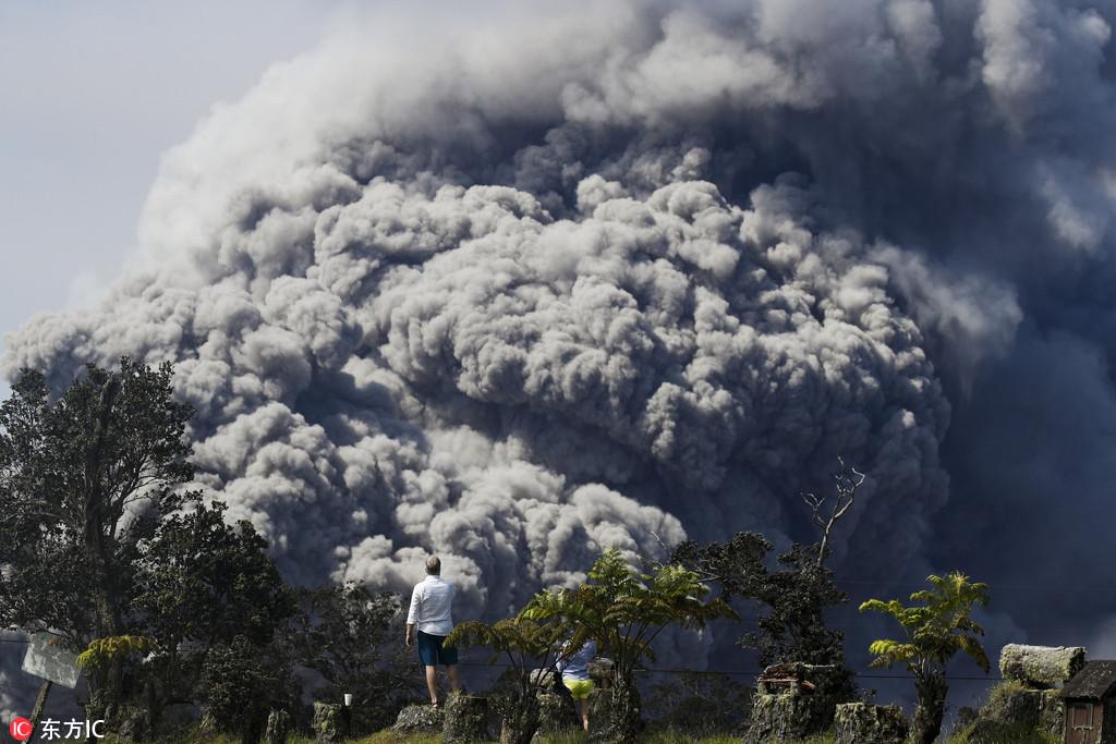 夏威夷火山喷发 数千人已被疏散(图)