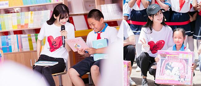 人美心善!Baby与学生开心互动助力公益