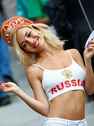 颜值爆表的俄罗斯女球迷