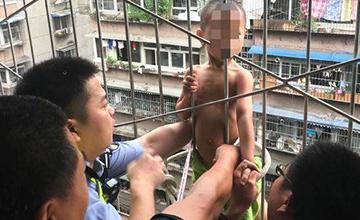4岁半男童从8楼坠落 挂在7楼