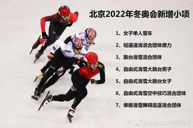 北京冬奥组委:北京2022新增7小项让场馆利用更充分