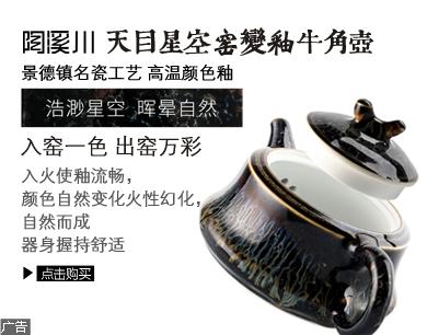 陶溪川 天目窑变颜色釉牛角壶