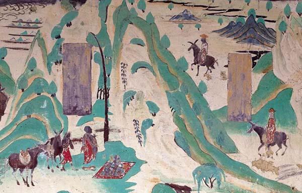 天太热?那就进山隐一会儿 敦煌壁画中的消夏经图片