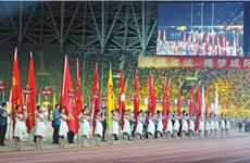 陕西省第十六届运动会在咸阳进行开幕式彩排