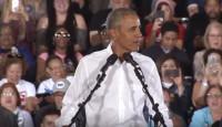 美国中期选举白热化 奥巴马助阵拉选票人气爆棚