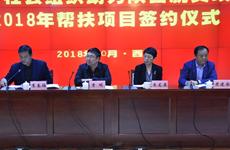 2018年蘇陜社會組織扶貧協作項目簽約儀式舉行