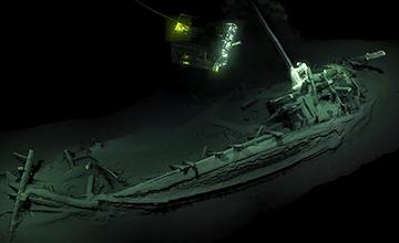 黑海现世界最古老完整沉船 距今2400年