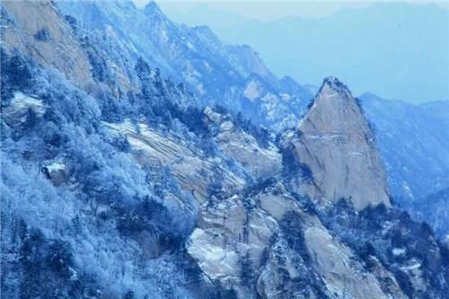 尧山又下雪了,不是一般的美!