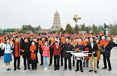 两千市民大雁塔下献唱祖国 文化大咖现场朗诵引爆全场