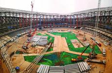 科技助力十四运会主场馆建设 西安奥体中心建设已现规模