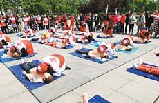 """陕西省红十字会举行""""世界红十字日""""主题宣传活动"""