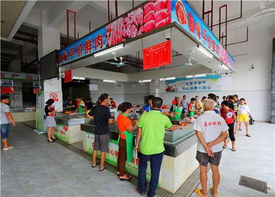 陵水菜篮子放心猪肉销售网点将逐步覆盖至全县各个