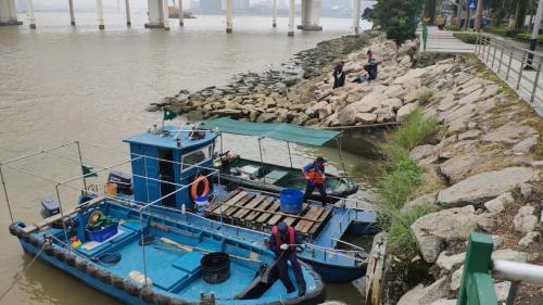 澳門海事局加強清理石灘垃圾 吁市民維護海上環境