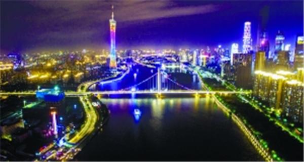 """广州道路照明系统将提升 """"点亮""""中心城区百条市政道路"""
