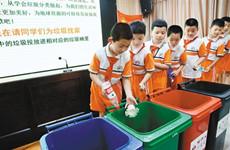 互动环节丰富多彩 莲湖区垃圾分类宣讲走进校园