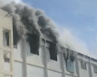 深圳比亚迪总部一厂房起火