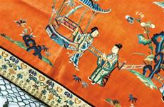 清代刺绣展在西安开展 展出清代名锦8件绣品70余件
