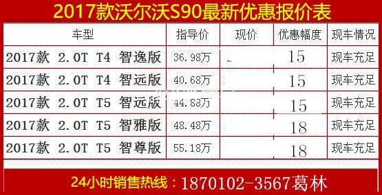 新款沃尔沃S90最新报价 新款沃尔沃s90最新图片 新款s90亚太2.0T油高清图片