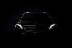 奔驰新款S级预告图 亮相上海车展