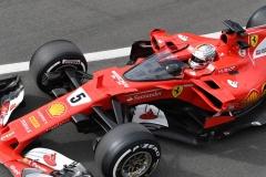 F1英国站第一次练习赛:维特尔完成护盾测试