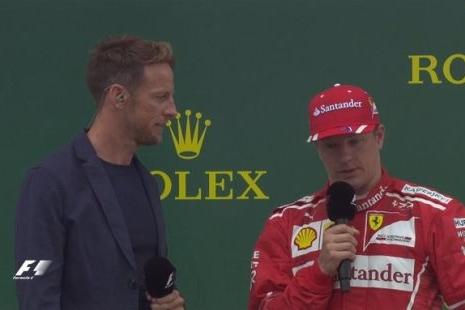 F1英国站正赛后前三采访  汉密尔顿:也有点担心轮胎