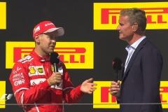 F1匈牙利站正赛后前三名接受采访