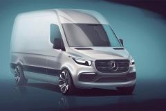 奔驰新Sprinter设计图 或2018年亮相